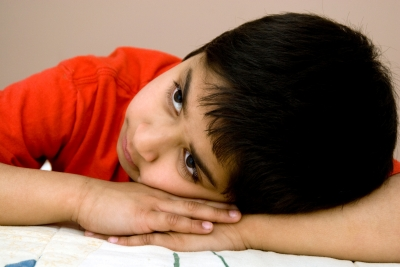 child with post-traumatic stress disorder