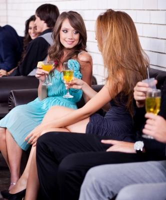 ladies talking at a party