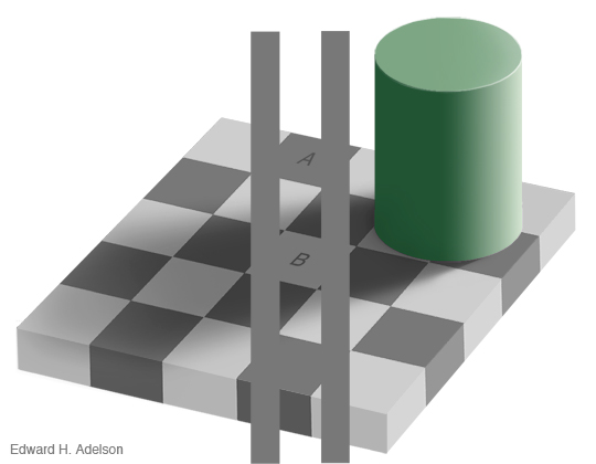 checker shadow illusion solution