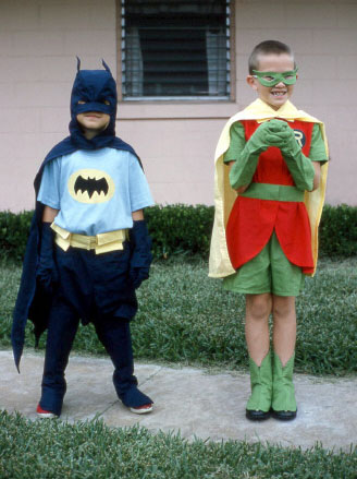 children dressed as batman and robin
