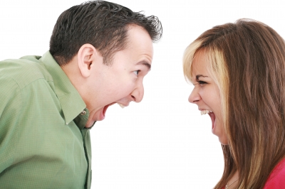 husband and wife arguing