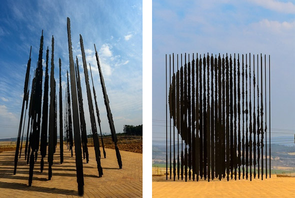 Nelson Mandela steel sculpture Marco Cianfanelli
