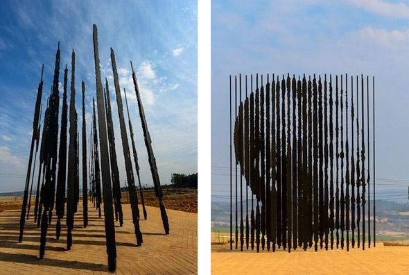 Nelson Mandela steel sculpture Marco Cianfanelli
